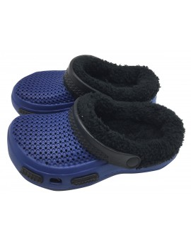 Fur-lined Men clogs