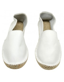 Espadrille cuir WHITE LEATHER homme