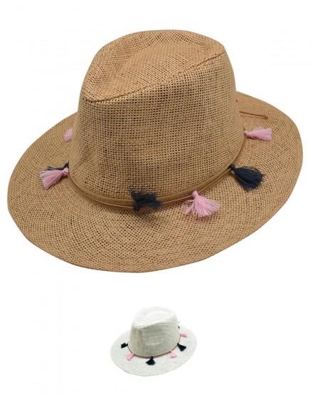 Lot de chapeaux PANAMA 005 Blanc