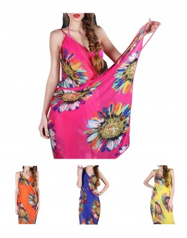 Robe paréo BEACH DRESS FLOWER
