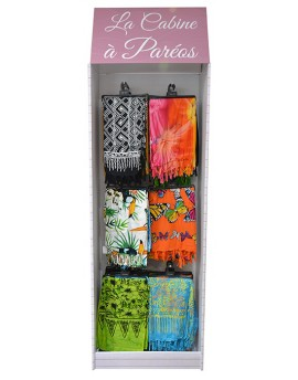 Display SARONG'S HUT with 200 SARONGS
